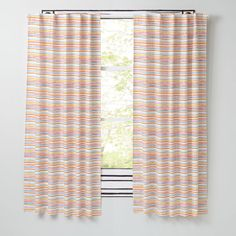 Shop Chance of Rainbow Curtains.  Add these colorful rainbow curtains designed by artist Ashley Goldberg to your décor and you'll have a beautiful rainbow even on a cloudy day.