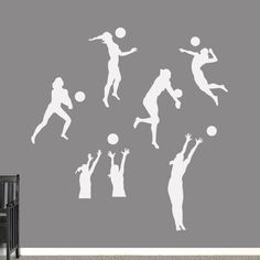 Sweetums Volleyball Players Wall Decals Set