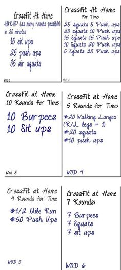 crossfit at home