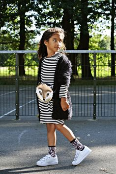 Life With Faye Blog: OUTFIT - Fluffy & Stripes