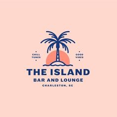 Vintage Graphic Design Fun, bright, and tropical logo design featuring The Island bar and lounge Typography Logo, Typography Design, Logo Branding, Lettering, Design Logos, Logo Design Trends, Corporate Branding, Print Design, Photoshop