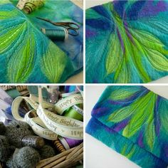 3 From wondrous imagination  to the hands of a talented artisan these lovely fibers went and in end a beautiful ipad case was born. I want one just like this.