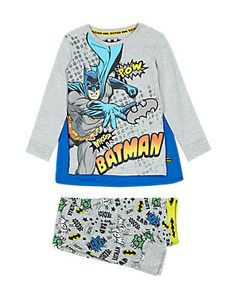 Grey Mix Cotton Rich Batman™ Stay Soft Pyjamas with Cape Years) Nour, Cartoon T Shirts, Boys Pajamas, Latest Trends, Kids Fashion, Underwear, Dressing, Graphic Sweatshirt, Batman