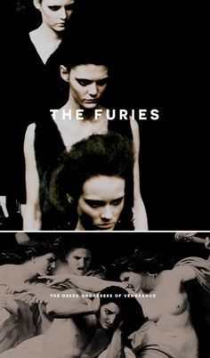 The Furies, otherwise known as the Erinyes were the cruel underworld goddesses of vengeance and retribution. The three sisters consisted of Alecto (the angry), Megara (the grudging), and Tisiphone (the avenging) and were wards of the god Hades where they dwelled in the underworld. In some versions they are said to have been created by the blood of the titan Uranus while other versions praise them as daughter of the goddess Nyx, the goddess of the night. The sisters served as persecutors...