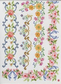This Pin was discovered by Bar Beaded Cross Stitch, Cross Stitch Rose, Cross Stitch Borders, Cross Stitch Alphabet, Cross Stitch Flowers, Cross Stitch Charts, Cross Stitch Designs, Cross Stitching, Cross Stitch Embroidery