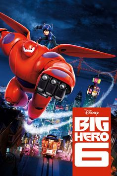 Big Hero 6 movie poster - special bond that develops between plus-sized inflatable robot Baymax, and prodigy Hiro Hamada, who team up with a group of friends to form a band of high-tech heroes. Baymax, Daniel Henney, Streaming Hd, Streaming Movies, Big Hero 6 Marvel, Fire Movie, Movie Tv, Cinema Movies, Tv Series Online