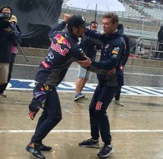 Rain's put today's F1 racing on hold, and teams are getting a bit stir crazy.