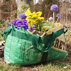 tulsicrafts | plantbag made of recycled cement sacks | small