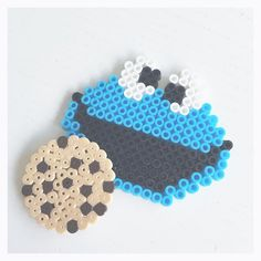 Cookie Monster perler beads by perler_beads_in_my_heart