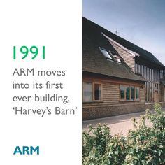 #ARMHistory - ARM moves into its first ever building, 'Harvey's Barn' in 1991.  #ARMTechnology #ARMEcosystem #LifeAtARM