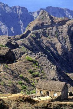 West Africa, Cape Verde (Cabo Verde), Santo Antao island, Ribeira Grande mountain