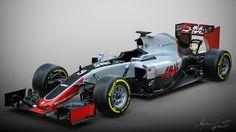 HAAS Ferrari VF-16 F1 by Marko Nikolic - https://www.behance.net/gallery/43238773/HAAS-Ferrari-VF-16-F1-car #SubstancePainter #ThisIsSubstance