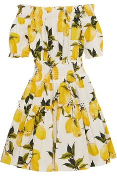 10 summer sundresses for every occasion to shop now: Dolce & Gabbana lemon off-the-shoulder dress