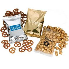 Do you want to invest in a promotional gift with a colossal appeal? You should order these custom imprinted pretzel filled bag at the earliest. These promotional pretzels filled bags not only feature enough snacks, but will serve as billboard for your Pretzel Snacks, Dry Snacks, Free Artwork, Make Your Logo, Snack Bags, Printed Bags, Custom Bags, Cool Items