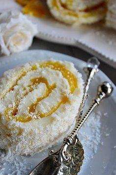 Illéskrisz Konyhája: ~ NARANCSOS KRÉMTEKERCS ~ Hungarian Desserts, Hungarian Recipes, Orange Creme, Cookie Recipes, Dessert Recipes, Food Texture, Delicious Desserts, Yummy Food, Different Cakes