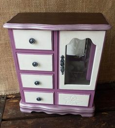 Violet jewelry box, vintage chic, eco friendly, RTS - pinned by pin4etsy.com