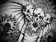 Anita Maslov Biro Art, Drawing S, Pen Drawings, Pointillism, Great Night, Stippling, Masquerade, Illustration, Skulls