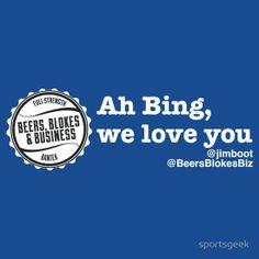 Ah Bing, we love you...
