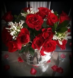 Beautiful Flowers; Red; Love; Roses; Valentines