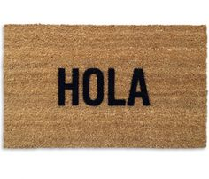Hola Doormat. Can't be too hard to make. And I LOVE it. :-) I just don't $45 love it.