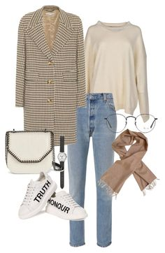 """Untitled #22861"" by florencia95 ❤ liked on Polyvore featuring STELLA McCARTNEY, RE/DONE, J.Crew, Burberry, Alexander McQueen and Ray-Ban"