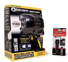 Brinkmann Handheld Lighting Set (Brinkmann QBeam 800-2380-W Max Million III Rechargeable Spotlight and Armormax LED Flashlight) ** Want additional info? Click on the image.