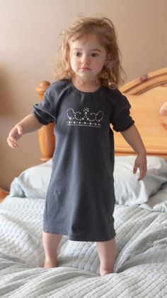Make a sweet princess-style nightgown for your little girl in 15 minutes by refashioning or upcycling an old t-shirt. Great simple sewing tutorial.