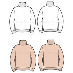 Men's Turtleneck Sweater Fashion Flat Template – Templates for Fashion Fashion Design Jobs, Fashion Design Template, Fashion Designers, Flat Drawings, Flat Sketches, Technical Drawings, Mens Fashion Sweaters, Sweater Fashion, Clothing Sketches