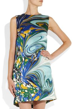 stella mccartney satin dress | Stella McCartney barton printed silk-satin dress 2