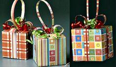 Paper Cube Ornaments