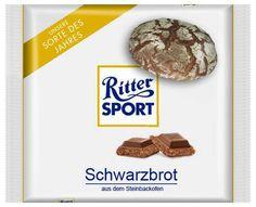 RITTER SPORT Fake Schokolade Schwarzbrot