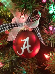 University Of Alabama Christmas Ornaments