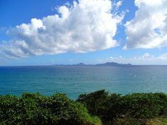 View on Les Saintes, Guadeloupe. Location: Trois-Rivières, Guadeloupe (Caribbean - F.W.I)