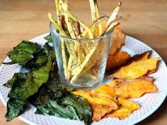 chips vegetales al horno - receta en castellano