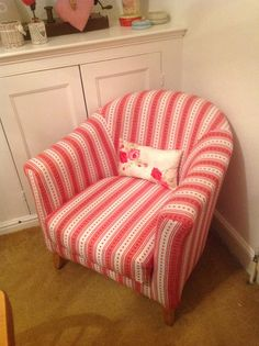 Tub Chair I Love This Recovered Using A Table Cloth Fab Shabby Chic!