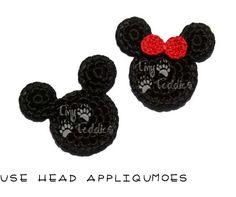 Mouse Head Appliques