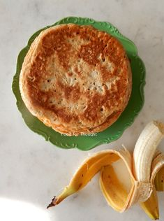 Τηγανίτες μπανάνας χωρίς ζάχαρη Banana Pancakes, Healthy Desserts, Hummus, Brunch, Breakfast, Ethnic Recipes, Food, Baking, Health Desserts