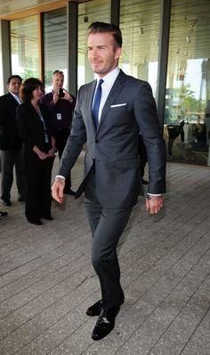 David Beckham at a Miami press conference.