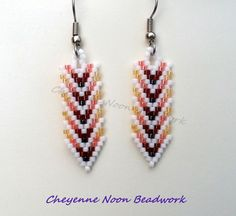 Native American Beaded Earrings Brick Stitch by CheyenneNoon