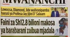 Vichwa vya Habari Vilivyopo Katika Magazeti ya Leo Jumatatu Julai 10, 2017.