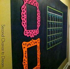 DIY Chalkboard Wall Command Center