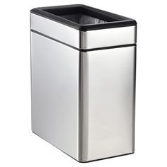 Simplehuman Stainless Steel 2.6 Gal. Profile Open Trash Can