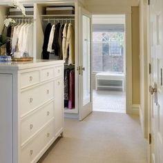 Layout from master, through walk in to ensuite Laundry In Walk In Closet Design, Pictures, Remodel, Decor and Ideas