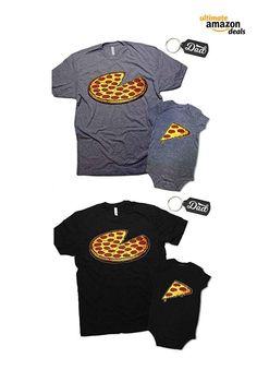 5d84f7c1d Pizza Pie Slice Bodysuit and T-Shirt Set for Infant & Dad
