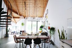 """""""The first thing you notice when you come in are the high wooden ceilings, and this is my favorite feature of the house. I also love how bright and open it is,"""" Isabel says."""