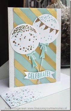 Sunday 28 december 2014 Treasure your Memories: Celebrate Today, Balloon Framelits Dies