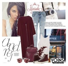 """""""YOINS"""" by elly-852 ❤ liked on Polyvore featuring Coffee Shop, Converse and Christian Dior"""