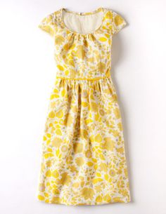 LOVE the dress, shorten it just a smidgen (to knee length). Perfect! I'll take one in every color, except yellow.
