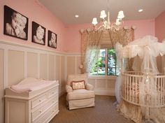 Baby nursery with round crib
