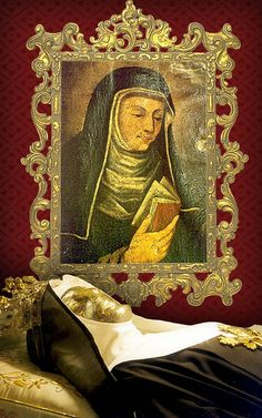 Blessed Mattia Nazerei of Matelica 1242- 1319 AD born and died within the Papal States. Incorruptible whose body emits a blood fluid to this day, but click on the photo, and scroll down below to read some of her story.